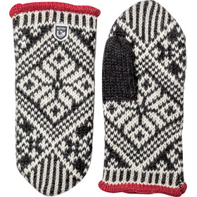 Hestra M's Nordic Wool Mittens Black/Offwhite